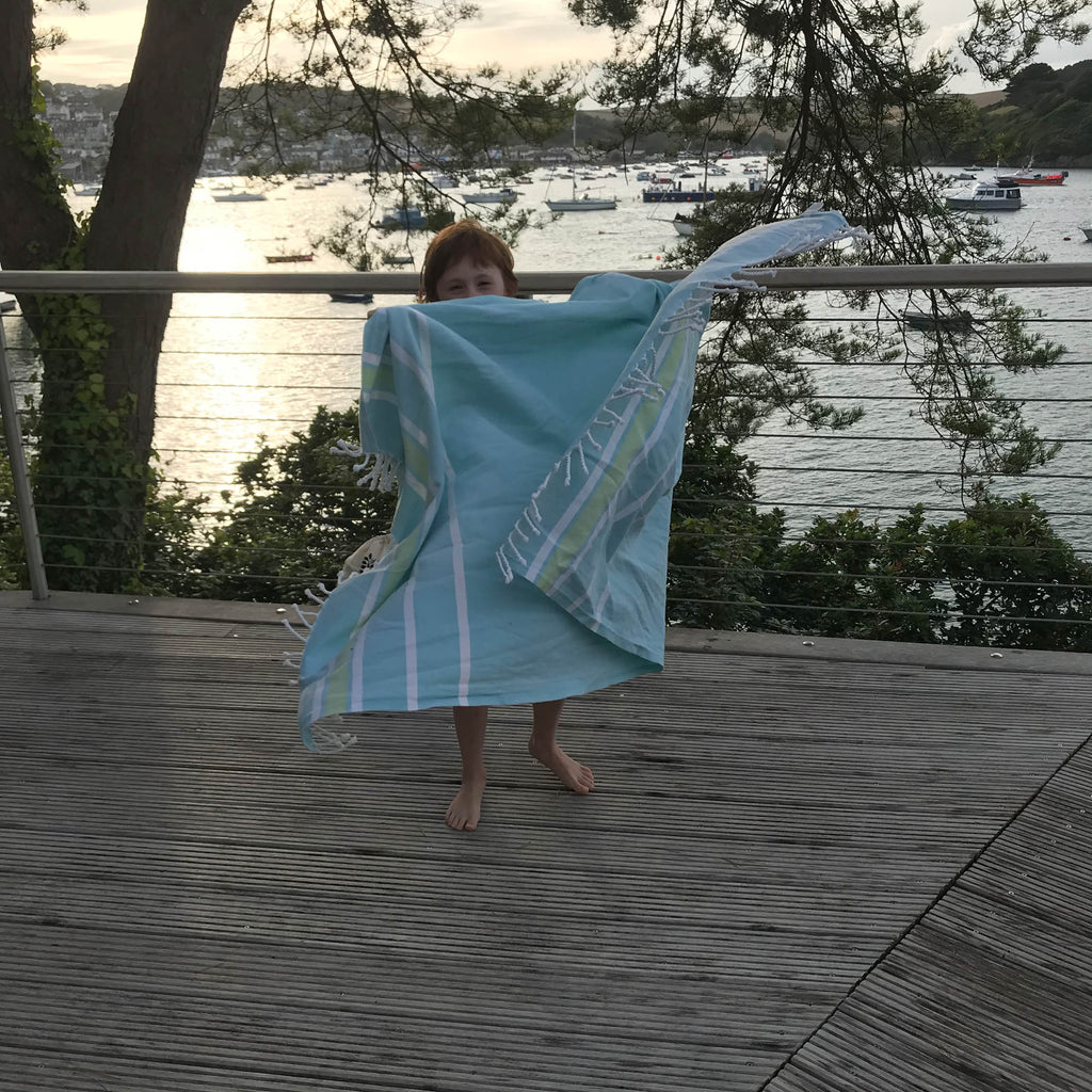 Hampton Hammam Towel | Greens | Wildash London - Wildash London