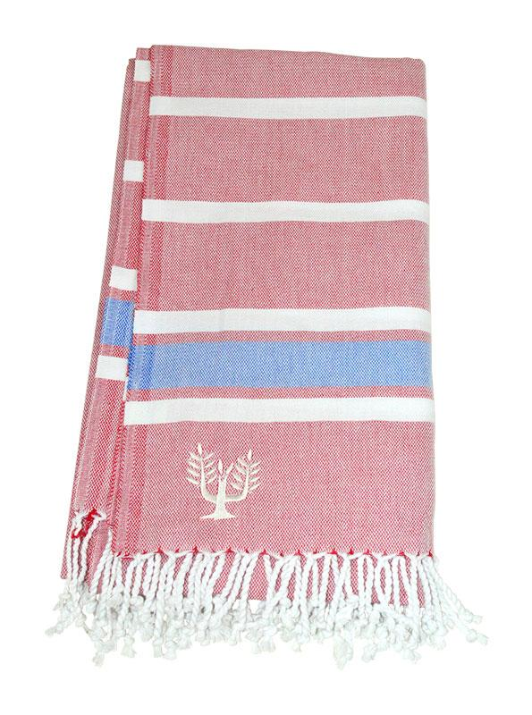 Hampton Hammam Towel | Pink-on-Pink | Wildash London - Wildash London