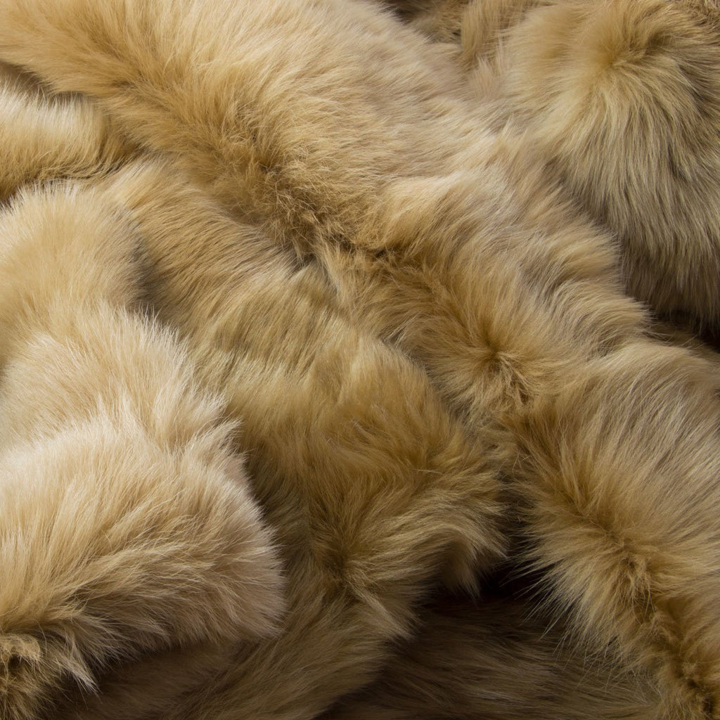 Honey Gold Sheepskin Throw 60cm x 120cm - Wildash London