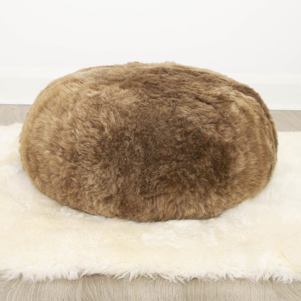 Hot Buns Sheepskin Pouffe - Icelandic Shorn Fur ALL COLOURS - Wildash London