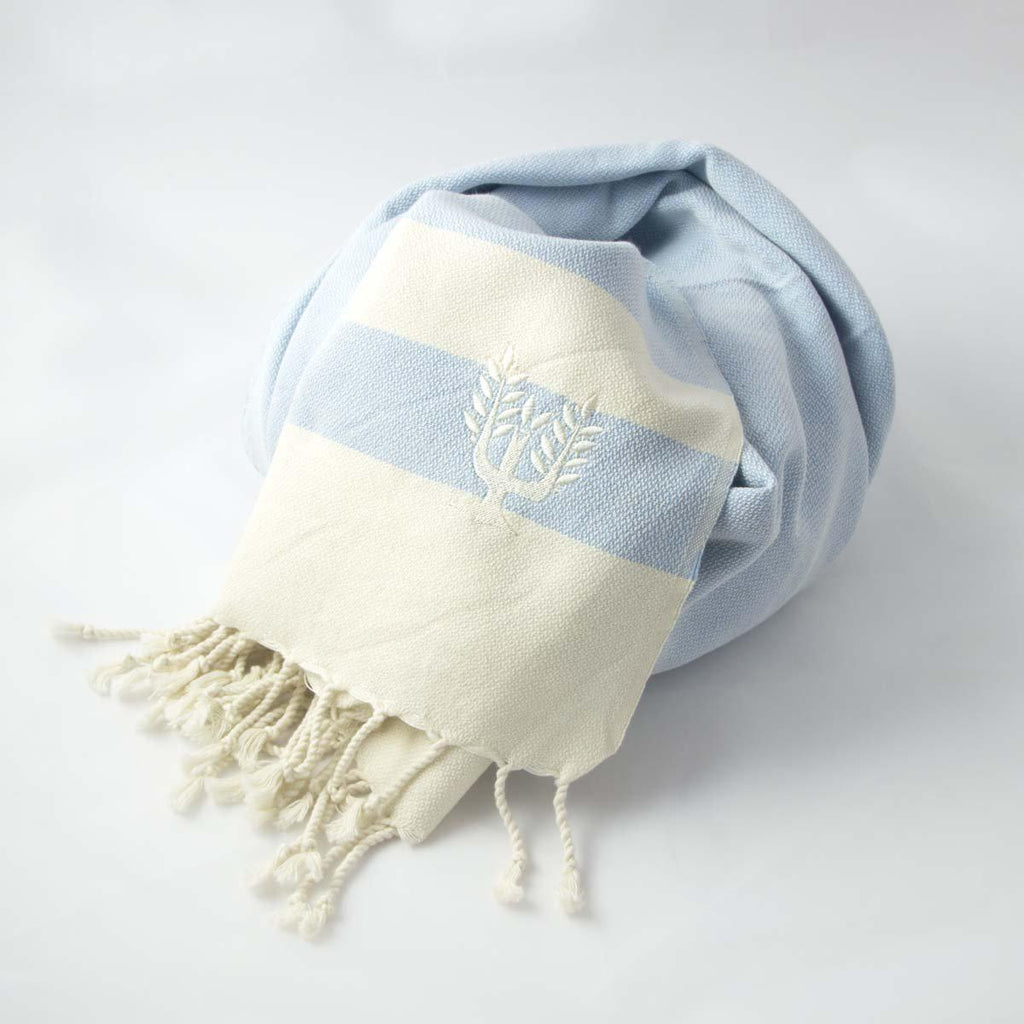 Ibiza Hammam Towel Duck Egg Blue - Wildash London