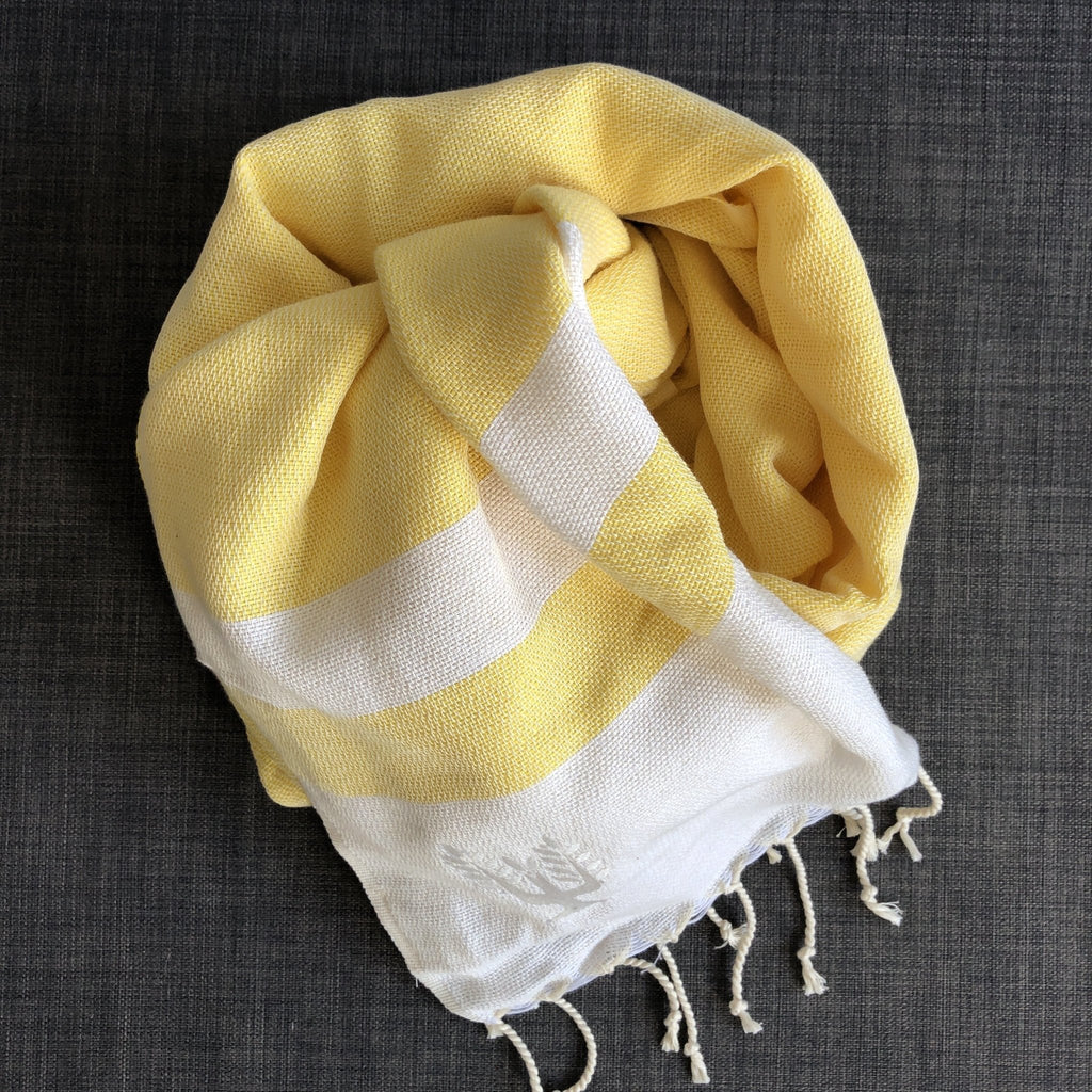 Ibiza Hammam Towel Lemon - Wildash London