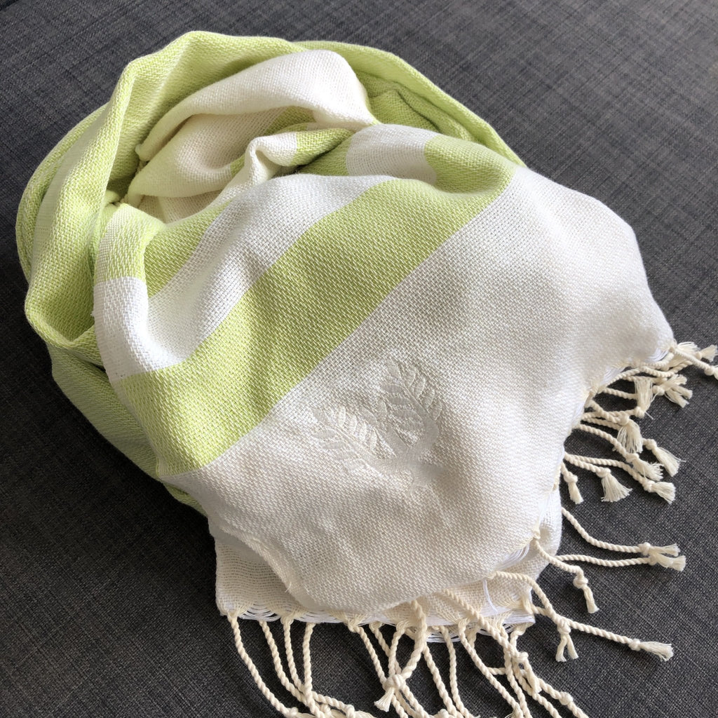 Ibiza Hammam Towel Lime - Wildash London