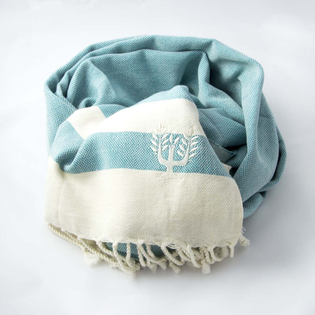 Ibiza Hammam Towel Teal - Wildash London