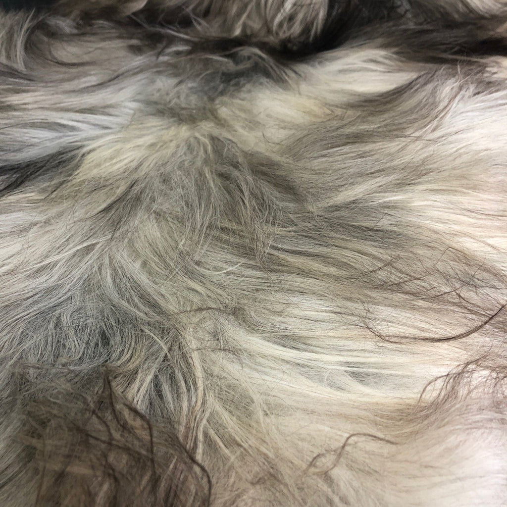 Icelandic Natural Light Grey Undyed Longhair Sheepskin Ecofriendly Sustainably Tanned - Wildash London