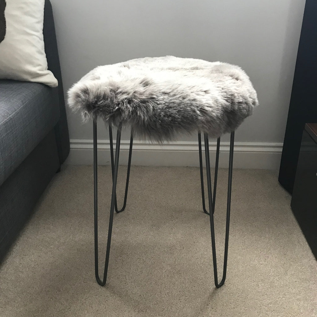 Icelandic Sheepskin Roundie Seat Cover Warm Grey Shorn 50mm - Wildash London