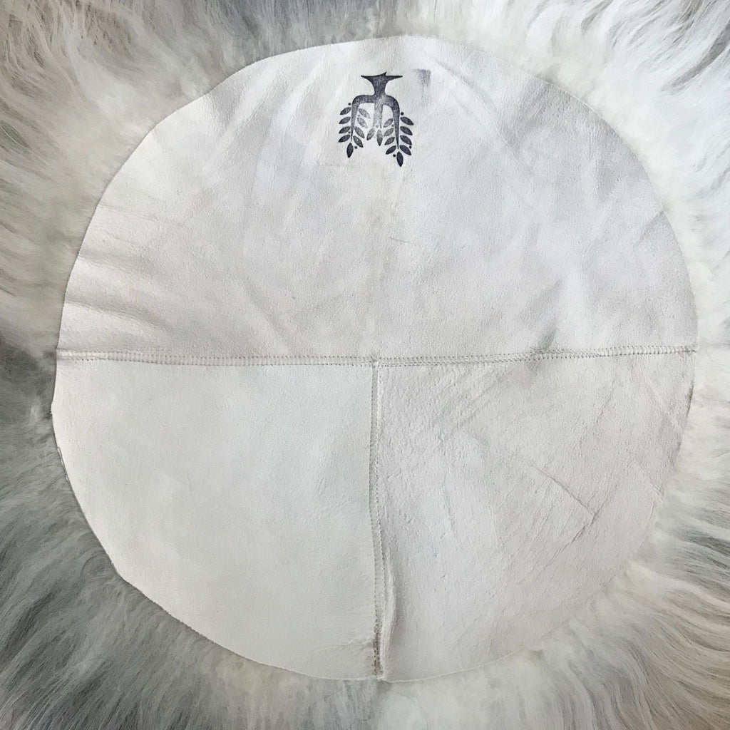 Icelandic Sheepskin Roundie Seat Pad Creams / Browns Longhair 35cm - Wildash London