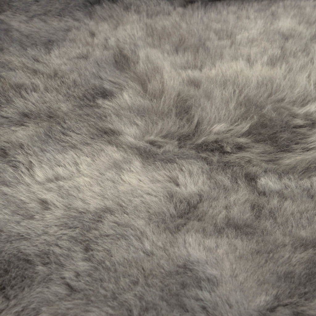 Icelandic Sheepskin Rug Cool Grey Shorn 50mm Large 100-110cm - Wildash London