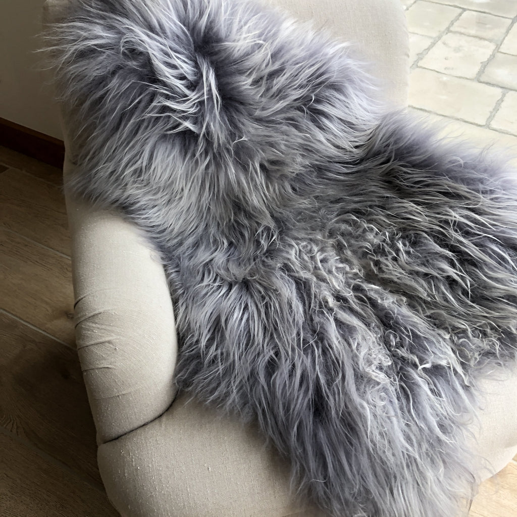 Icelandic Sheepskin Rug Cool Grey XL - Wildash London