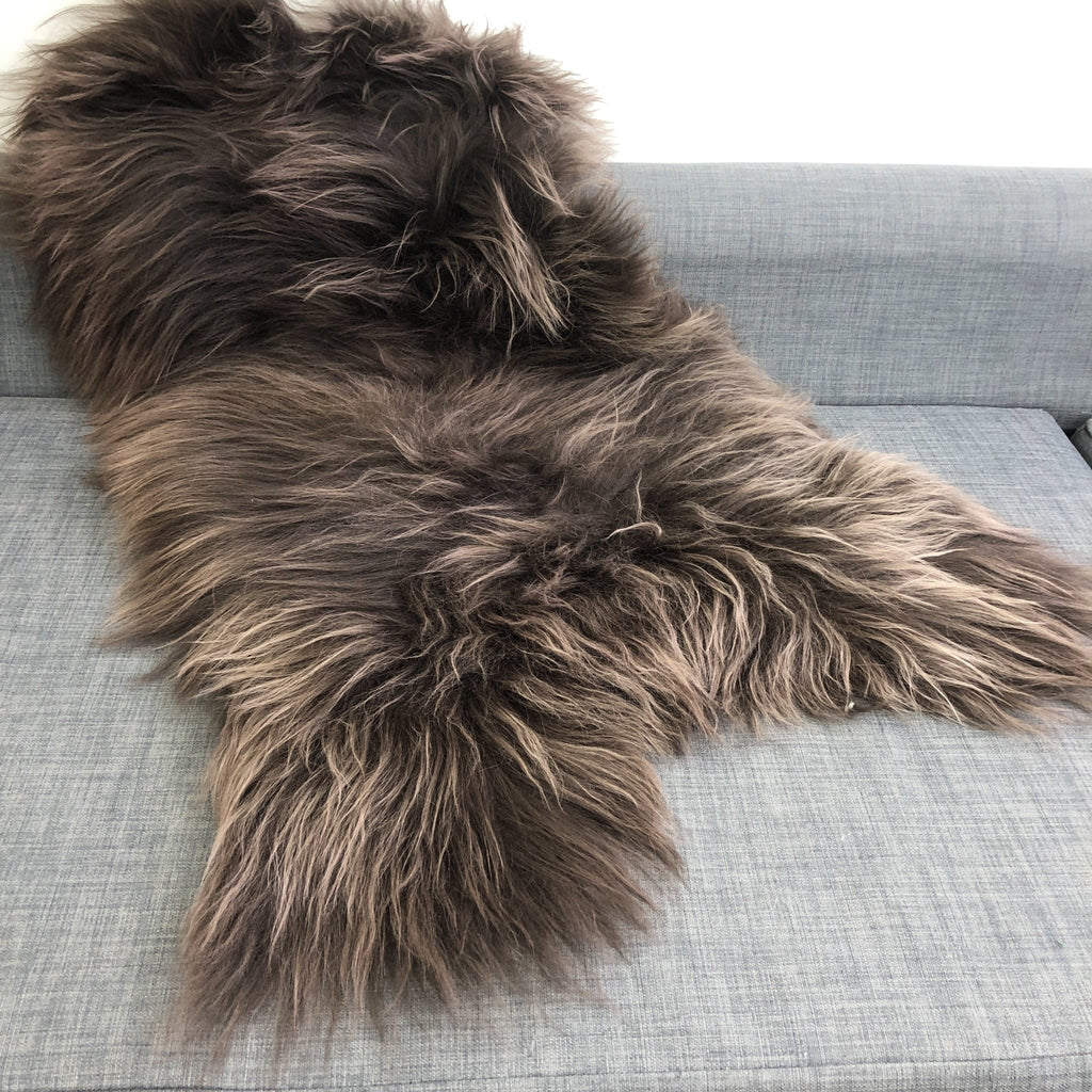 Icelandic Sheepskin Rug Rich Chestnut Brown Large 110cm - Wildash London