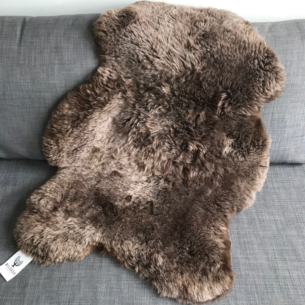 Icelandic Sheepskin Shorn 50mm Rich Chestnut Brown Large - Wildash London