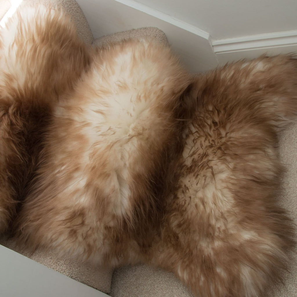 Large Sheepskin Rug Brown Mouflon - Wildash London