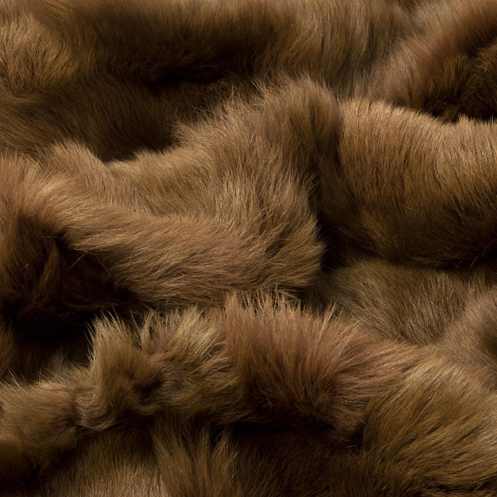 Milk Chocolate Sheepskin Throw 60cm x 120cm - Wildash London