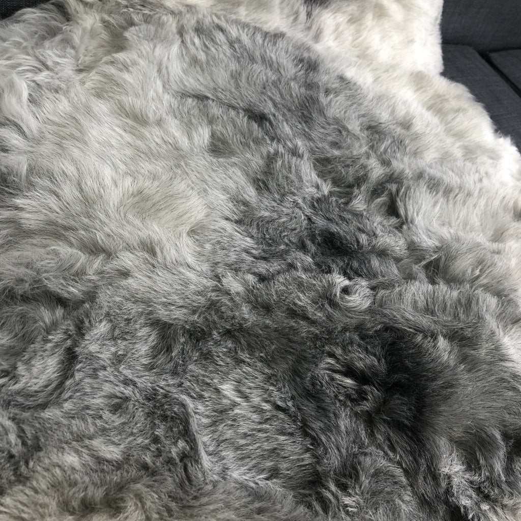 Natural Grey Icelandic Shorn 50mm Sheepskin Hide XL | Luxury Sheep Skin - Wildash London
