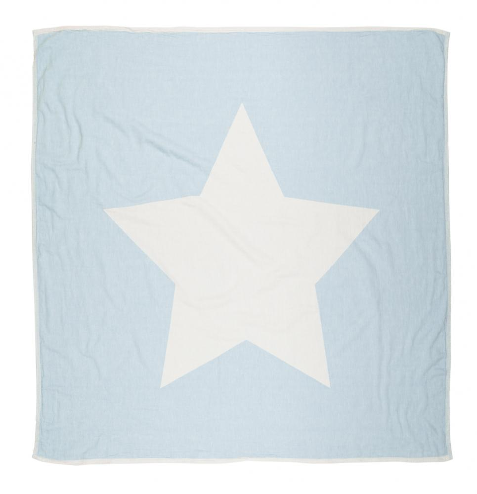 North Star Throw & Baby Blanket Sky Blue - Wildash London