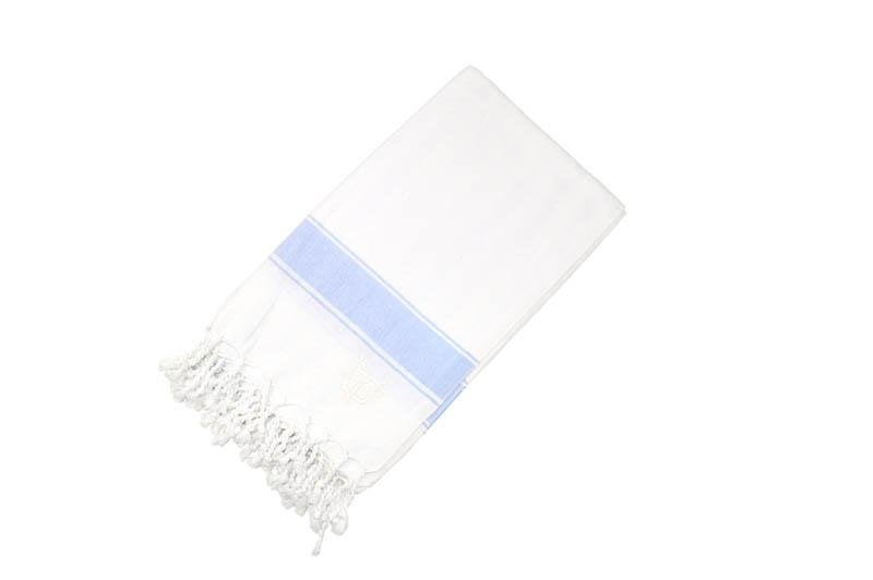 Penzance Hammam Towel Light Blue - Wildash London