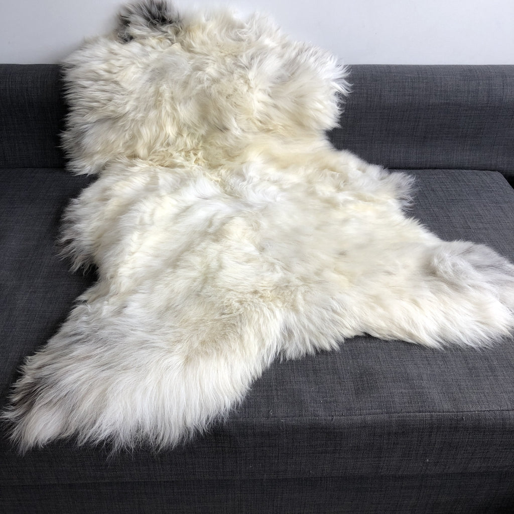 Rare Breed British Champagne Mix Sheepskin Rug 100% Natural Free-range XL 110cm - Wildash London