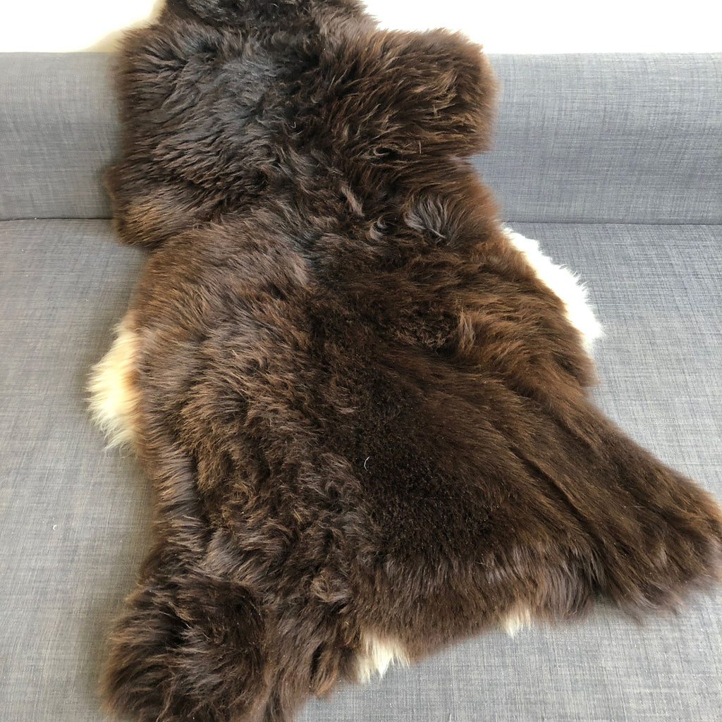 Rare Breed Unique Natural British Brown Sheepskin Rug Throw Large 0223BL08 - Wildash London