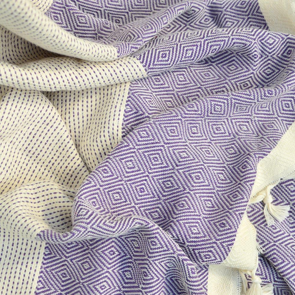 Seray XL Cotton Throw Iris - Wildash London