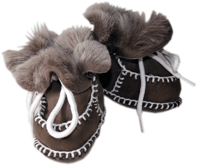 Shearling Baby Booties S 3-12 Months - Wildash London