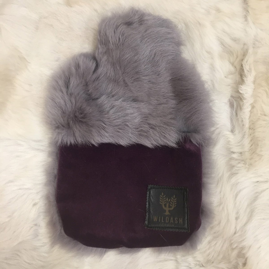 Sheepskin & Velvet Hot Water Bottle - Wildash London