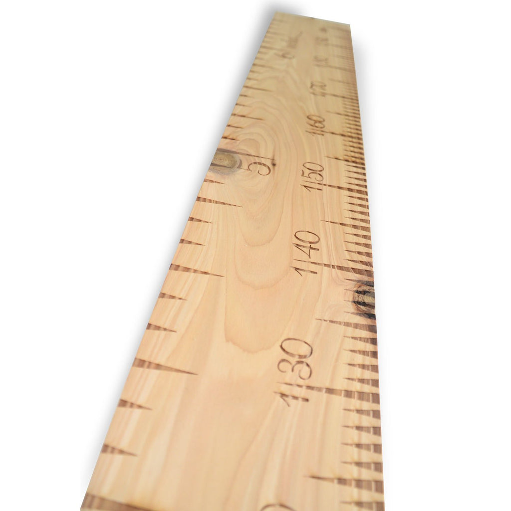 SlimJim Dual Measure Wooden Ruler Height Chart (Non-Personalised) - Wildash London