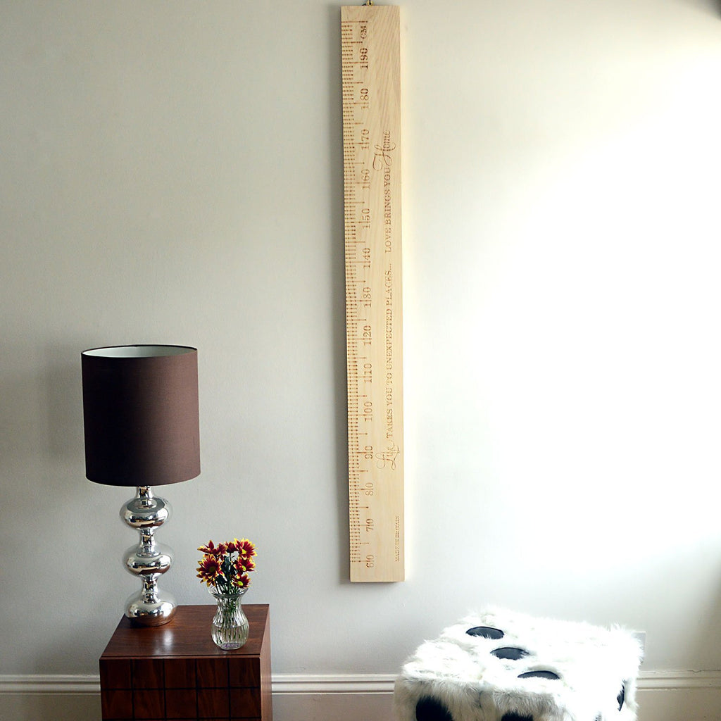 SlimJim PERSONALISED Wooden Ruler Height Chart Ash - Wildash London