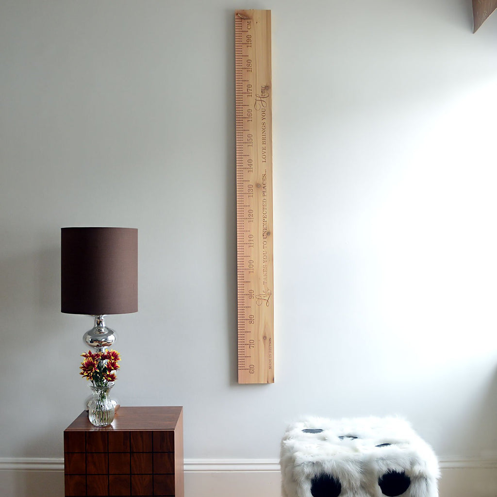 SlimJim PERSONALISED Wooden Ruler Height Chart Cedar - Wildash London