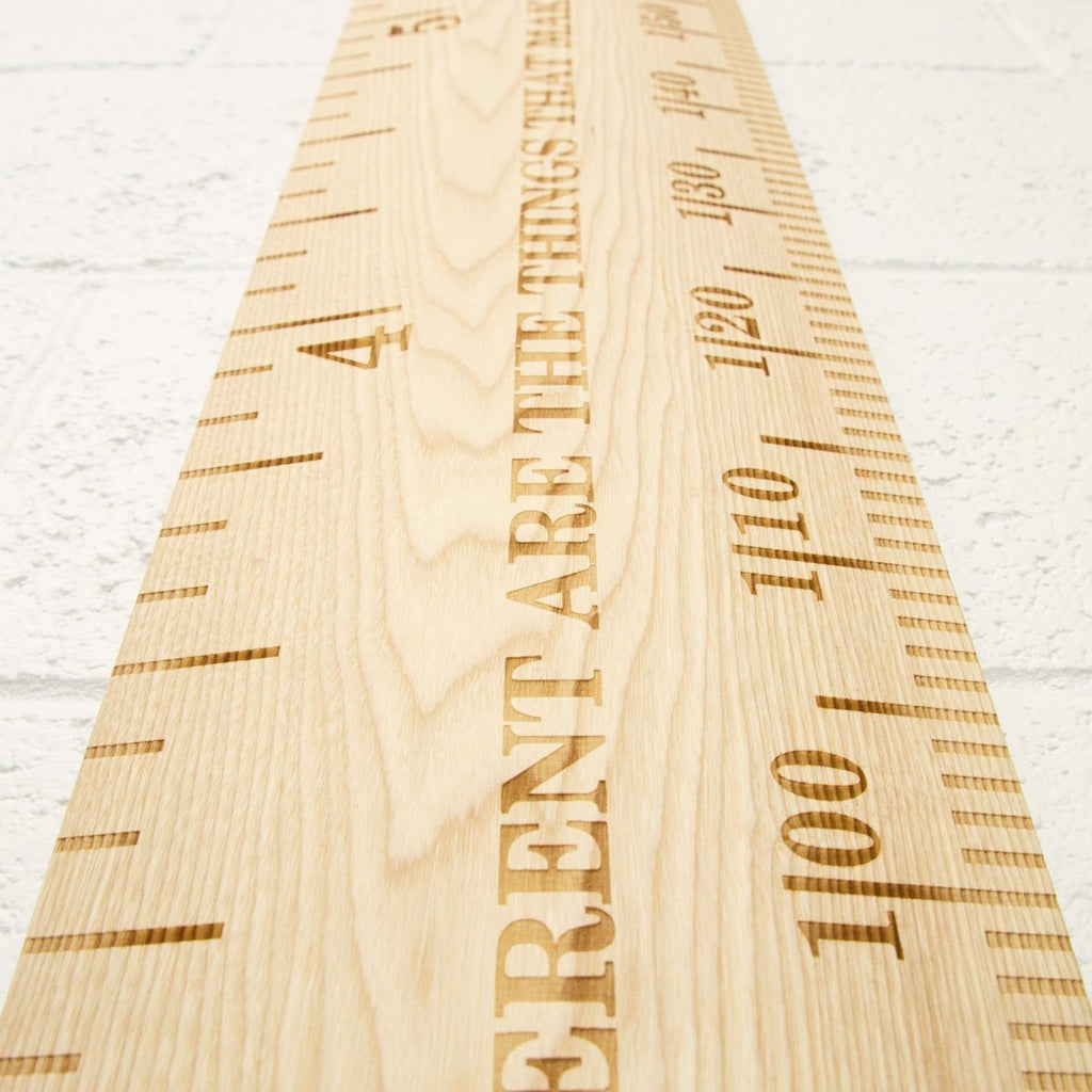 Standard Deluxe Vintage Wooden Ruler Height Chart - Wildash London