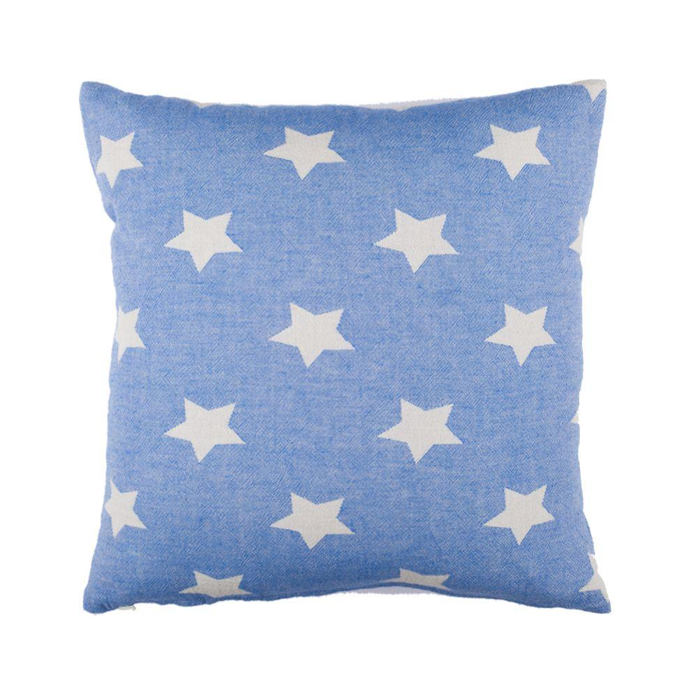 Starbright Cushion 45cm Royal Blue/Ecru - Wildash London