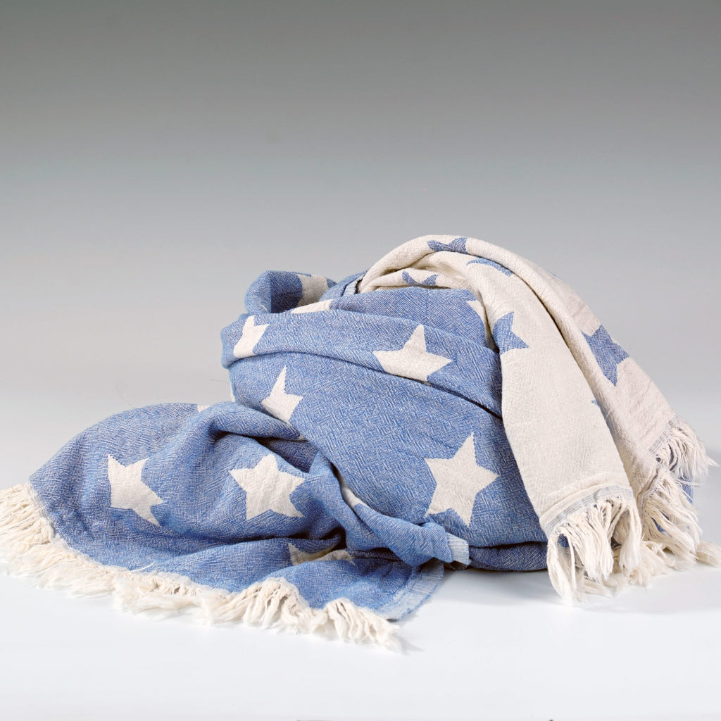 Starbright Throw Royal Blue - Wildash London