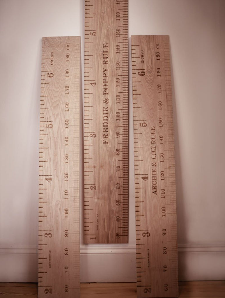 Straight Up Kids Wooden Ruler Height Chart - Wildash London