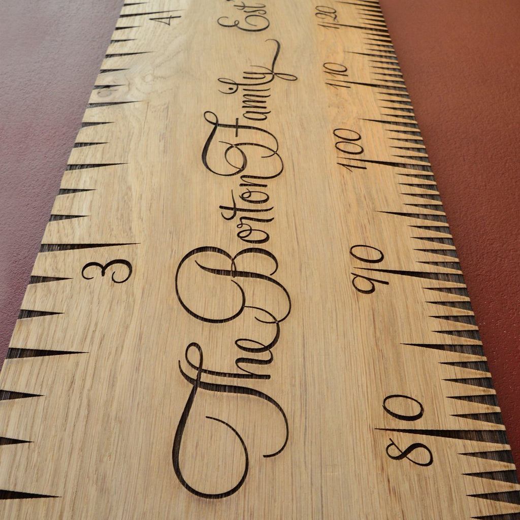 SuperLux Kids Wooden Ruler Height Chart - Wildash London