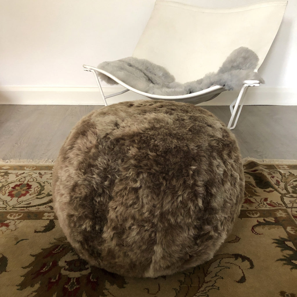 The Boule Icelandic Sheepskin Pouffe - Wildash London