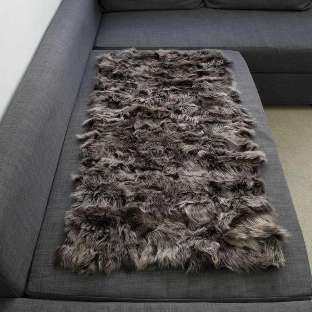 Toscana Shearling Throw | Rug | Timberwolf | 75cm x 115cm - Wildash London