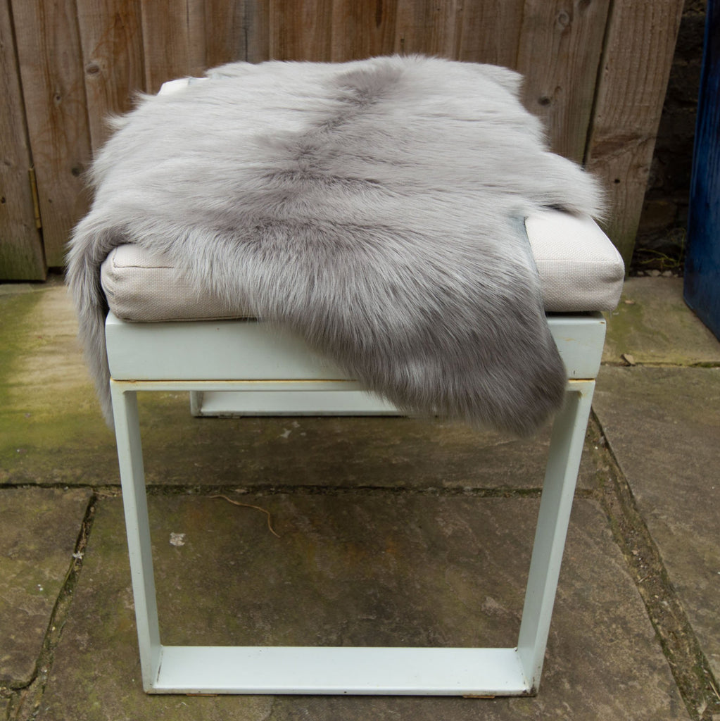 Tuscan Shearling Sheepskin Hide - Dolphin Grey - Wildash London