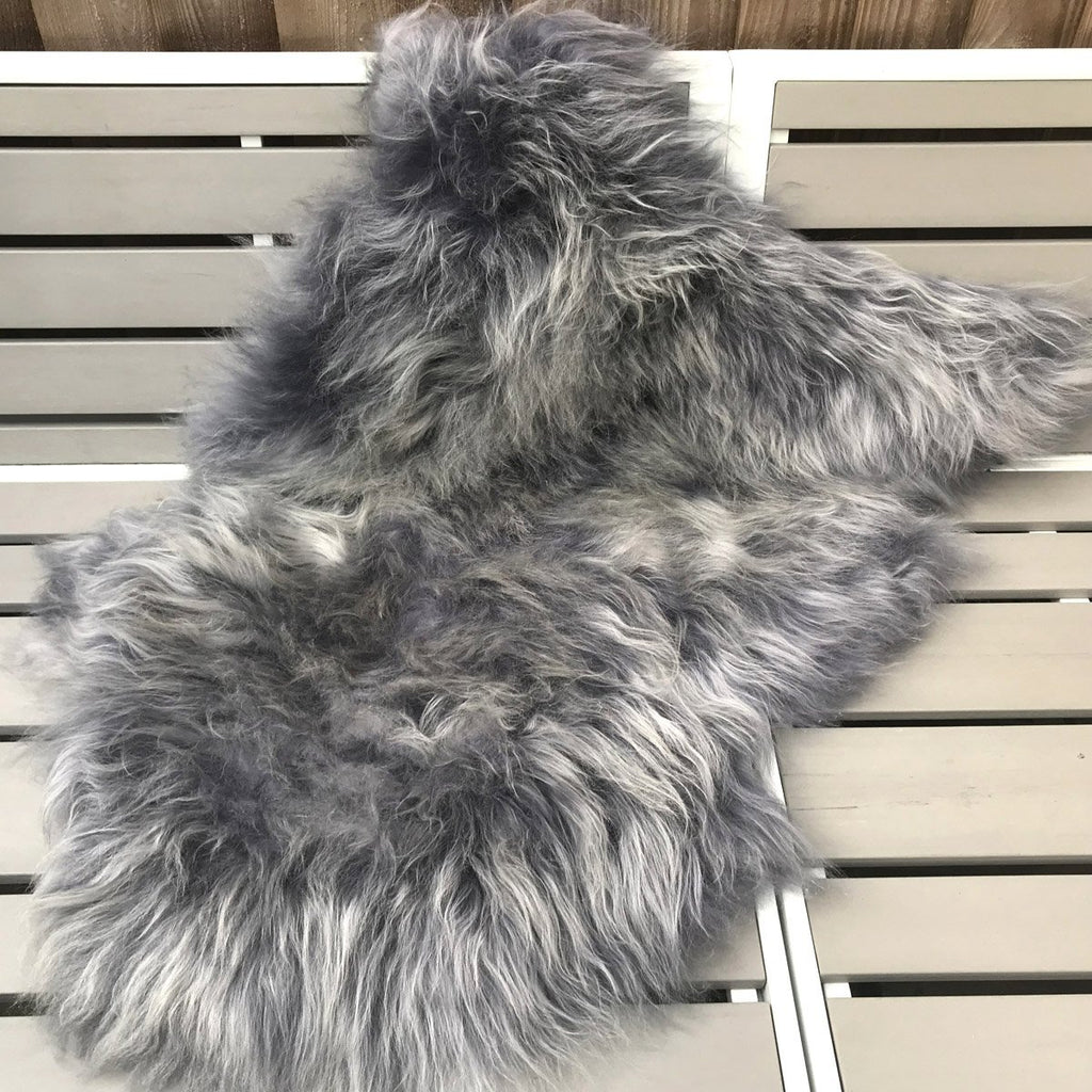 Winter Grey Icelandic Sheepskin Rug XL 115cm - 130cm - Wildash London