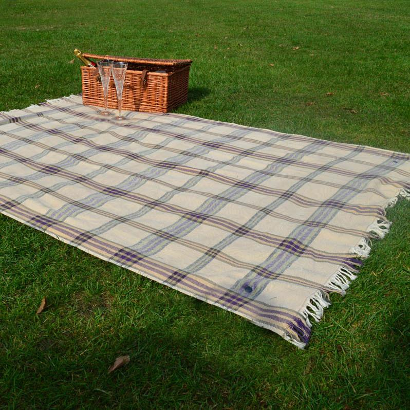 Wool Picnic Blanket with Waterproof Backing | Ltd Edition Wildash Tartan - Wildash London
