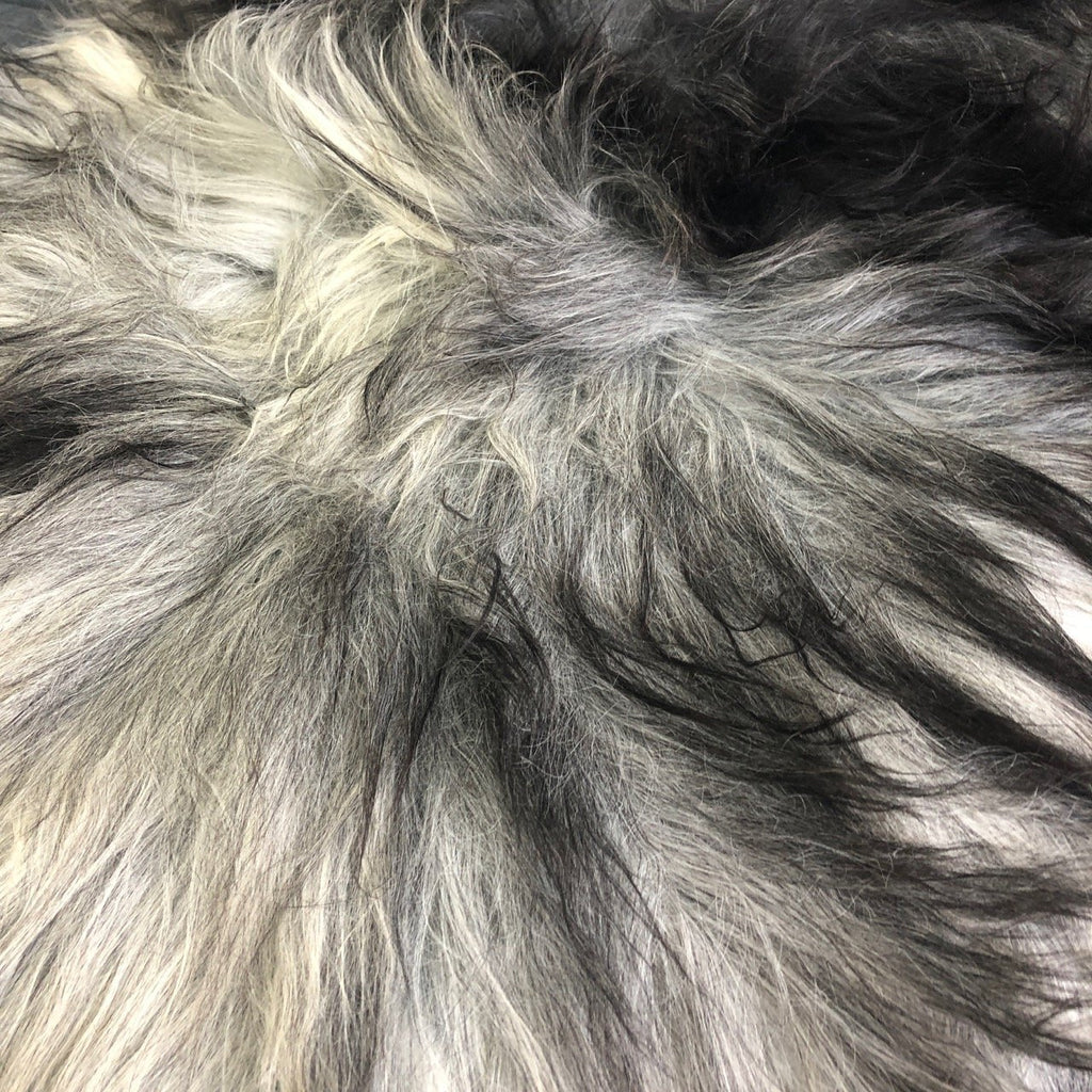 XL Icelandic Natural Grey Undyed Sheepskin Unique Sheep Skin Ecofriendly Sustainably Tanned GR-002 - Wildash London