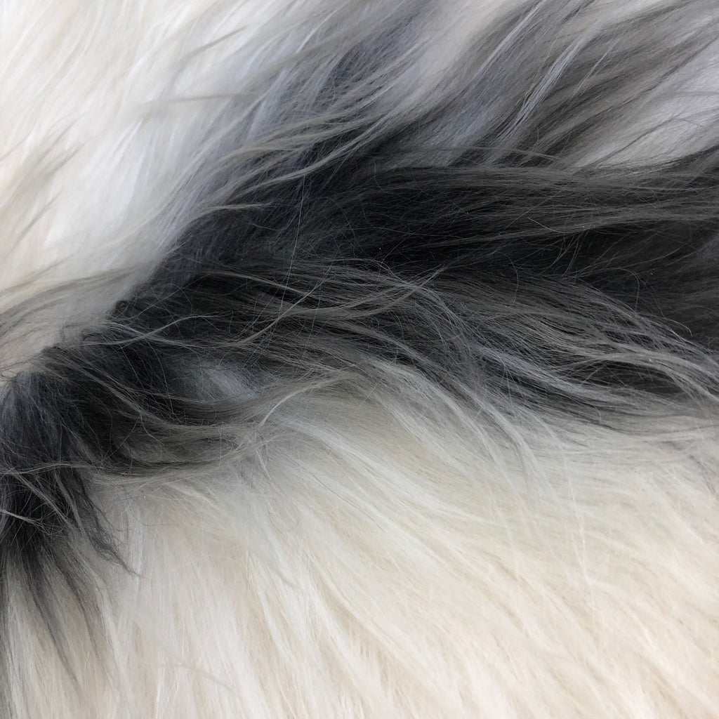 Yin & Yang Icelandic Sheepskin Throw White with Black Spots Rug Eco Fleece 100% Natural Undyed Hygge 1604ILSPL-14 - Wildash London
