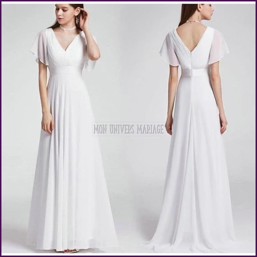 Nouvelle Collection De Robe Fluide Forme Empire Robe Mariée
