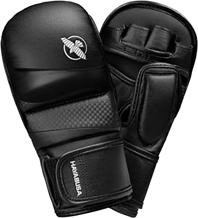 Hayabusa T3 7 oz Hybrid MMA Gloves - Black/Black