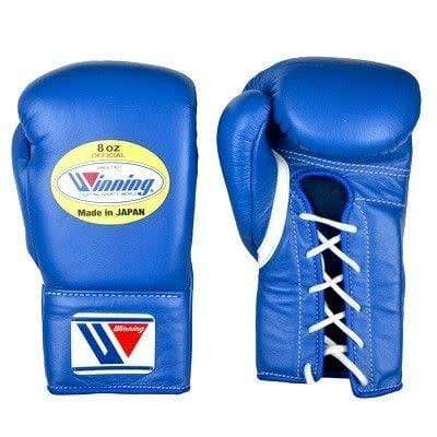 Winning Lace Up Gloves - Blue