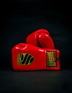 Superare S458 Lace Up Pro Fight Gloves - Red