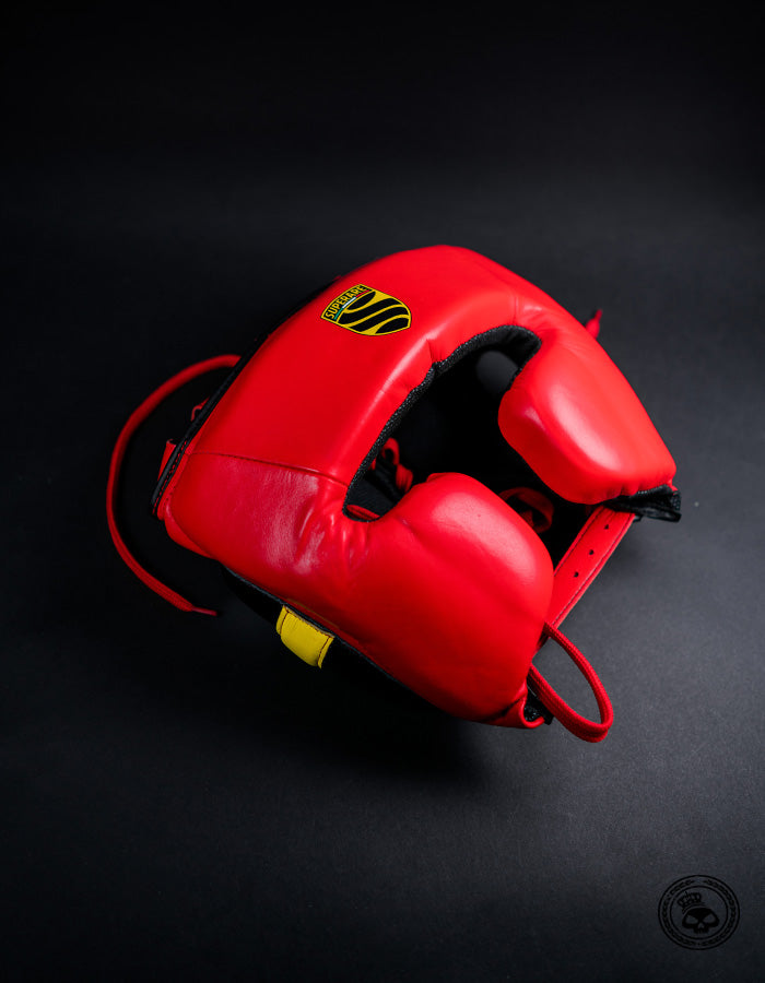 Superare S360 Cheek Headgear - Red/Black/Yellow