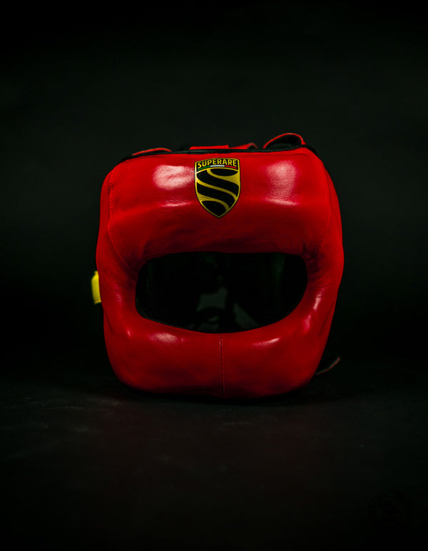 Superare S430 Full Face Headgear - Red/Black/Yellow