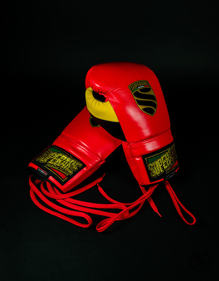 Superare S50 Lace Up Gloves - Red/Black/Yellow
