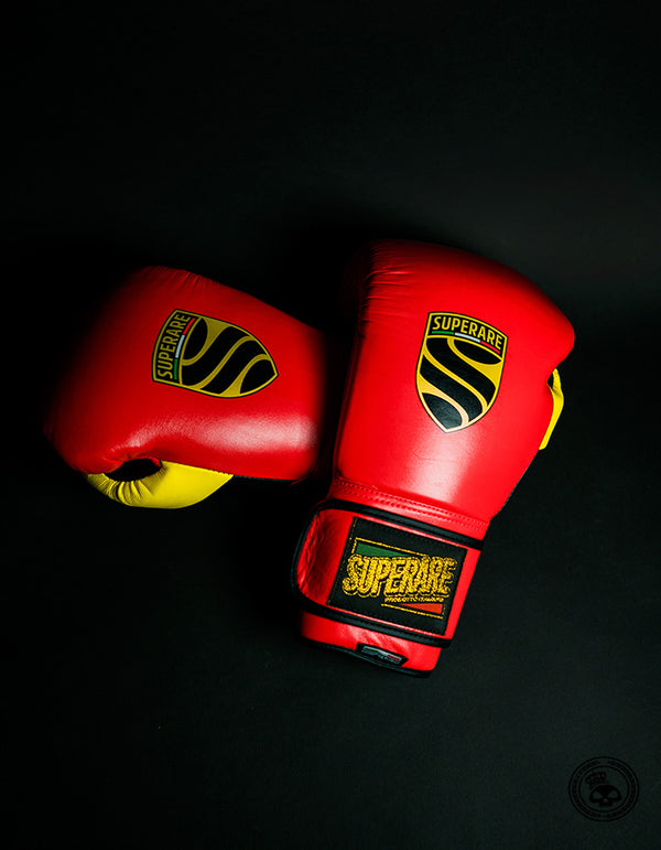Superare S50 Velcro Gloves - Red/Black/Yellow