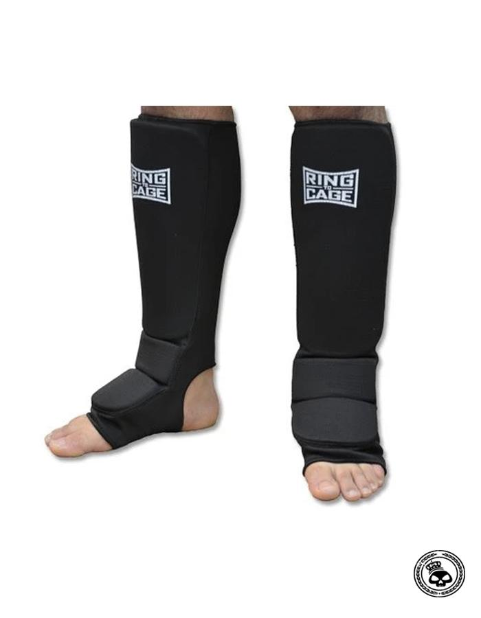 Ring To Cage Cloth Slip On Shin Guards