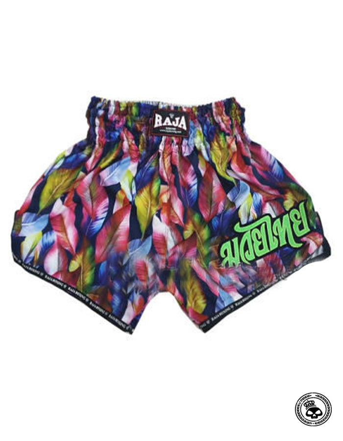 Raja Muay Thai Shorts -  Multi Colored Leaves